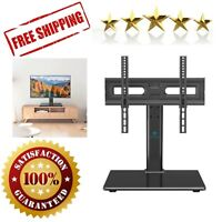 Universal TV Stand Table Top Height Adjustable Mount with Tempered Glass Base $31.02