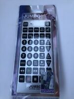 JUMBO Universal Tv Remote VCR DVD Cable Satellite Brand New In Package $13.90