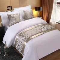 Bedspreads Gold Champagne Floral Bedding Single King Queen Bed covers Pillowcase