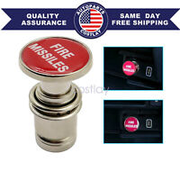New Universal Fire Missiles Push Button Car Cigarette Lighter Replace Accessory $8.99
