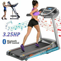 3.25HP Folding Electric Treadmill Incline Running Machine Smart with APP Control $489.99