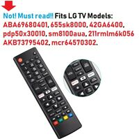 For LG TV Remotes Models Listed Smart TV Remote Control replacement TV Part $39.99