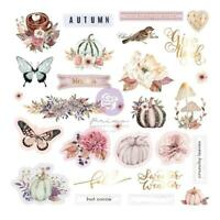 Prima Hello Pink Autumn Ephemera Cardstock Die Cuts with Foiled Accents 28pc