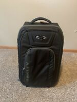 OAKLEY WORKS 45L ROLLER CARRY ON TRAVEL BAG Black Trolley Luggage Suitcase