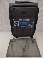 Samsonite Signify Unisex Adult Black Gray Softside Carry On 20quot; Spinner Suitcase