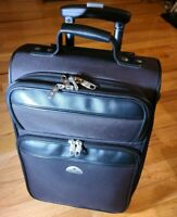 Samsonite 2 Wheel Softside 20quot; Upright Rolling Luggage Projector Suitcase Black