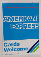 American Express Metal Sign New from 1998 Printed  both sides with all hardware