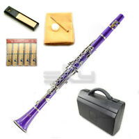 New High Quality Bb Purple Clarinet Package Nickle Silver Keys German Style
