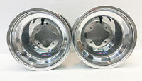 DWT Polished A5 Rolled Lip ATV Rear Wheel PAIR 10