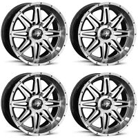 4 ATV/UTV Wheels Set 14in MSA M26 Vibe Machined 4/110 0mm IRS