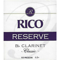 Rico Reserve #4+ Bb Clarinet Reeds (10 Count) QuinnTheEskimo