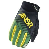 Answer ANSR Racing Syncron Gloves Forest Green Youth Medium Closeout MX Dirt ATV