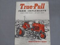 Vintage True-Pull Farm Implements TWIN ROW Tractor sales Brochure Catalog early!