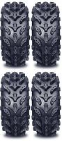 4 Interco Swamp Lite ATV Tires Set 2 Front 27x9-14 & 2 Rear 27x11-14 SwampLite