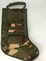 Green Camo Tactical Holiday Christmas Stocking Army Service Techie Gift