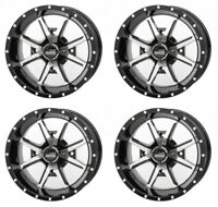 4 ATV/UTV Wheels Set 12in Frontline 556 Machined 4/110 5+2 IRS