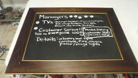 BEAUTIFUL RARE WOOD FRAMED CROWN ROYAL WHISKEY CHALKBOARD BEER SIGN ONLY 1 ON EB