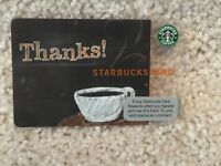 Starbucks 2009 USA TEST CARD Indianapolis Thanks #6053 Very Rare NEW