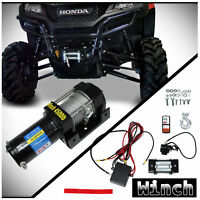 4500lbs 12V Electric Waterproof Recovery Winch Kit For ATV UTV Snow Mobile