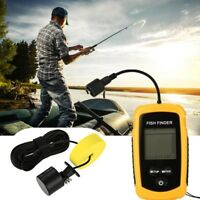 Portable LCD Fish Finder SonarAlarm Ultrasonic Sonar Sensor Echo Sounder Fishing