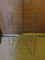 Vintage Folding Metal Wire Newspaper Stand Rack Retail Display Store Fixture