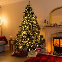 7.5 Ft Artificial Christmas Tree with 750 LED Lights Xmas Party Festival Decor
