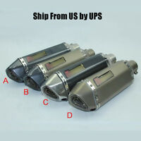 Racing Motorcycle ATV Exhaust Muffler Pipe Silencer Tip Tail Pipe for Universal