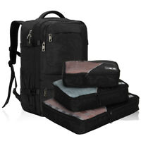 22'' Flight Approved Backpack Carry-On Travel Handy Luggage w 3pcs Packing Cube
