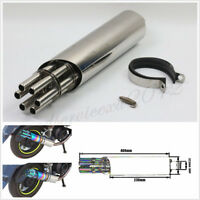 Motorcycles ATVs Silver 400*76mm Modified Exhaust Pipe Silencer With Accessories