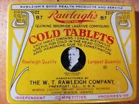 Rawleighs Cold Tablets *VINTAGE MEDICINE TIN IN GREAT CONDITION***