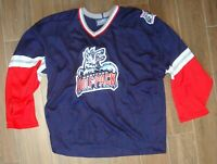1396f9f92 HARTFORD WOLFPACK REPLICA AUTHENTIC BAUER HOCKEY JERSEY WITH PATCHES! SIZE  XL