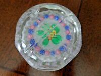 Antique New England Glass Co. MILLEFIORI Flower FACETED Paperweight