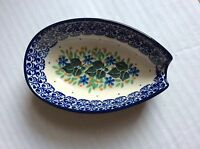 C.A. Polish Pottery Spoon Rest Ivy Trail NEW
