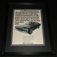 1973 AMC Ambassador 11x14 Framed ORIGINAL Advertisement