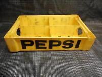 Old Vtg PEPSI COLA BOTTLE CARRIER YELLOW & BLACK Union Carbide Advertising