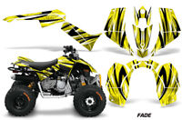 ATV Graphics Kit Quad Decal Sticker Wrap For Can-Am DS90 2007-2018 FADE YELLOW