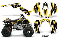 ATV Graphics Kit Quad Decal Sticker Wrap For Can-Am DS90 2007-2018 ATTACK YELLOW