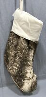 Pottery Barn Caramel Ombre Faux Fur Christmas Stocking