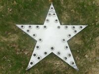 Vintage Early Original Lighted Flashing STAR SIGN - Hotel Gas Station