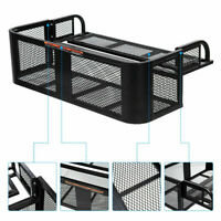 Universal ATV UTV Rear Loading Drop Basket Storage Rack Steel Mesh Hunting Gear