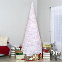 BCP 7.5ft Pre-Lit Pop-Up Artificial Christmas Tree w/ 450 Lights, Stand