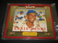 "SEAGRAM'S 7 CROWN  ERNIE BANKS BAR MIRROR 20.5"" X 16.25"