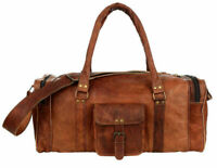 All Men's Real Leather Travel Luggage Garment Duffle Gym Bags Messenger Shoulder