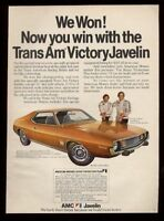 1973 AMC Trans Am Victory Javelin George Follmer Roy Woods photo ad