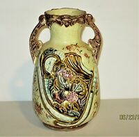 VINTAGE HAND PAINTED MAJOLICA POTTERY 7 1/2