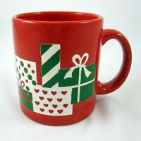 Waechtersbach Mug Wrapped Christmas Gifts Presents West Germany Vintage Holiday