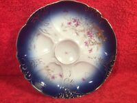 Oyster Plate Gorgeous Antique Porcelain Oyster Plate With Gold Paste, op419