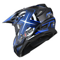 1Storm Adult Motocross Helmet Motorcross ATV MX BMX Dirt Bike Racing Blue