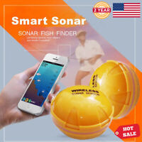 Portable Wireless BT Sonar Fish Finder 118ft Depth Fish Detect For IOS Android