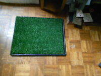 doggie pee station lg not used grass with filter underneath inside tray #5674 $28.95